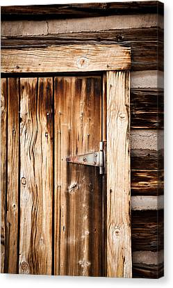 Ashcroft Ghost Town Door  Canvas Print by Adam Pender