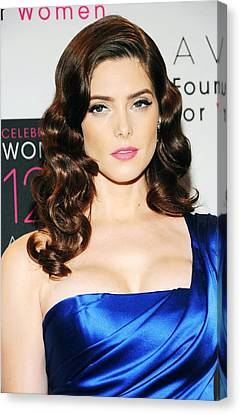 Ashley Greene At Arrivals For Avon Canvas Print by Everett