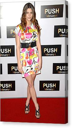 Ashley Greene At Arrivals For Push Canvas Print