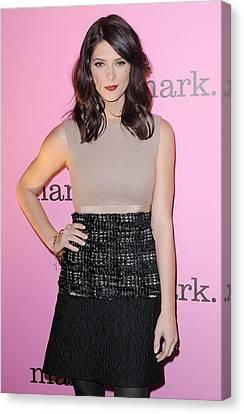 Ashley Greene Wearing A Giambattista Canvas Print