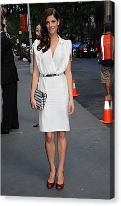 Kristin Callahan Canvas Print - Ashley Greene Wearing A Salvatore by Everett