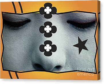 Canvas Print featuring the digital art Asian Flower by Christine Perry