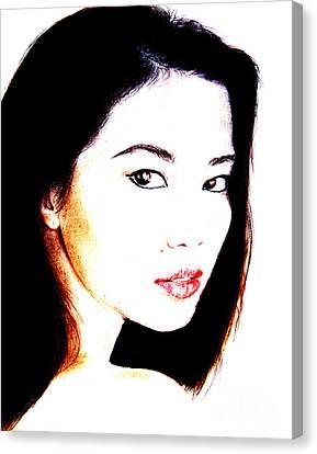 Asian Model  Canvas Print by Jim Fitzpatrick