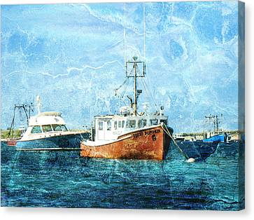 Asleep At The Moorings Canvas Print by Mother Nature