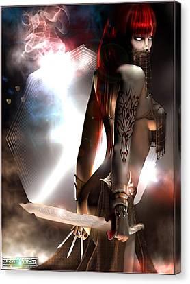 Assassins Of The Shadows Canvas Print by Mario  Liberti