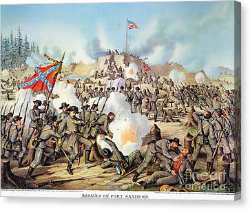 Assault On Fort Sanders Canvas Print by Granger