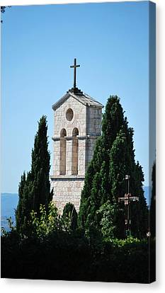 Canvas Print featuring the photograph Assisi Crosses by Amee Cave