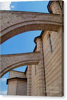 Assisi Italy - Basilica Of Santa Chiara Canvas Print by Gregory Dyer