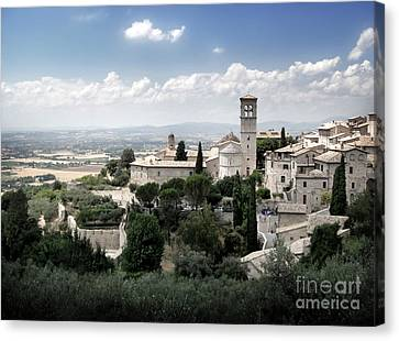 Assisi Italy - Bella Vista - 01 Canvas Print by Gregory Dyer