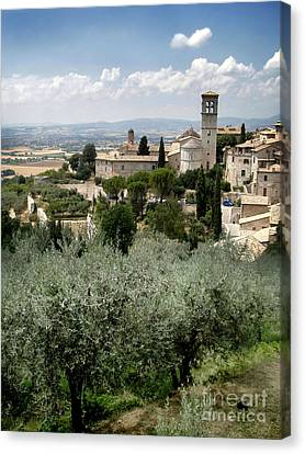 Assisi Italy - Bella Vista - 02 Canvas Print by Gregory Dyer