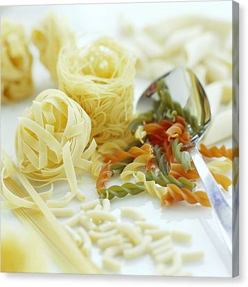Assorted Pasta Canvas Print by David Munns