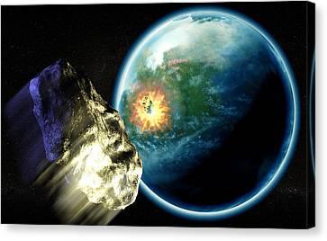 Asteroid Impact Canvas Print by Christian Darkin