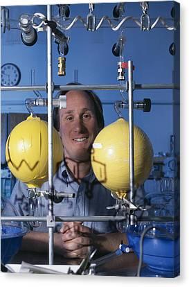 Astrochemistry Researcher Canvas Print