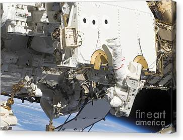 Astronauts Participate Canvas Print by Stocktrek Images