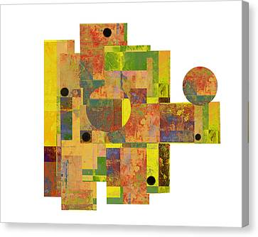 Asymmetry 1 Abstract Art Collage Canvas Print by Ann Powell