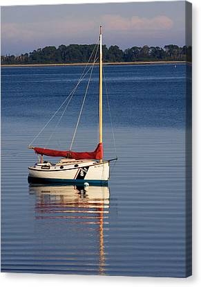 At Mooring Canvas Print by Michael Friedman