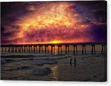 Panama City Beach Canvas Print - At My Most Beautiful by Marc Parker