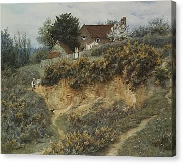 At Sandhills Witley Canvas Print by Helen Allingham