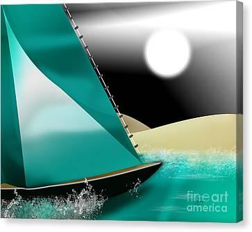 At Sea Canvas Print by Linda Seacord
