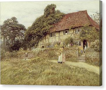 At Stedham Near Midhurst Canvas Print by Helen Allingham