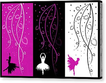 At The Ballet Triptych 2 Canvas Print by Angelina Vick