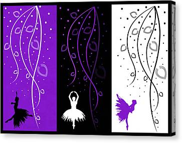 At The Ballet Triptych 3 Canvas Print