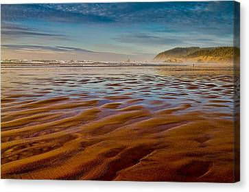 Canvas Print featuring the photograph At The Beach by Ken Stanback