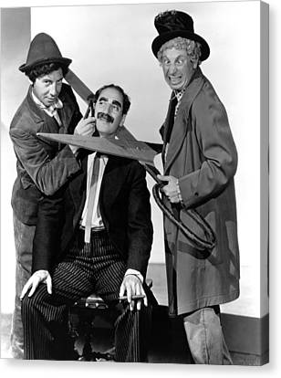 At The Circus, From Left Chico Marx Canvas Print by Everett
