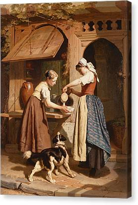 At The Dairy Canvas Print by Theodore Gerard