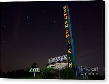At The Drive In Movie Theater  Canvas Print