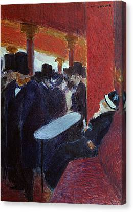 At The Folies Bergeres Canvas Print by Jean Louis Forain
