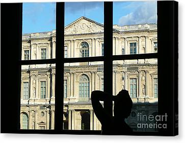At The Louvre Canvas Print by Bob and Nancy Kendrick