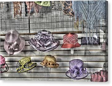 At The Milliners Canvas Print by William Fields