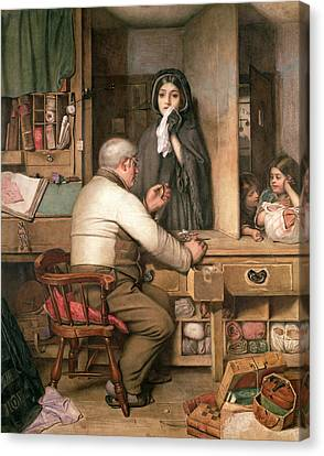 At The Pawnbroker Canvas Print by Thomas Reynolds Lamont