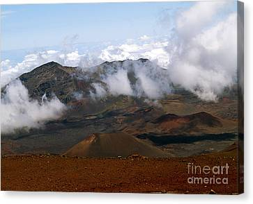 At The Rim Of The Crater Canvas Print