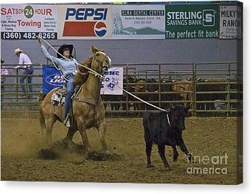 Sean Horse Canvas Print - At The Rodeo by Sean Griffin