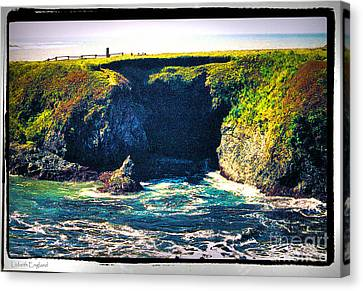At The Seaside Canvas Print by Happy Walls