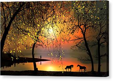 At The Sunset Canvas Print by Igor Zenin