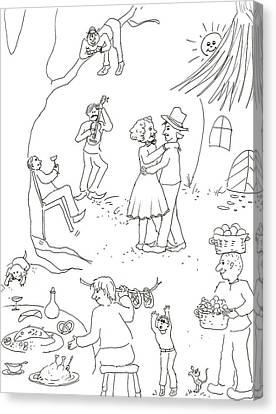 At The Wedding Canvas Print by Vass Eva Rozsa