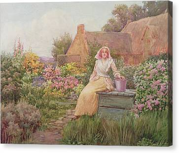 Stone Path Canvas Print - At The Well by William Ashburner
