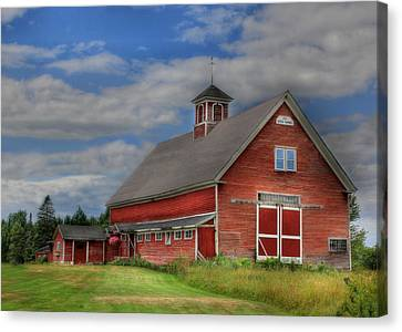 Maine Barns Canvas Print - Atco Farms - 1920 by Lori Deiter