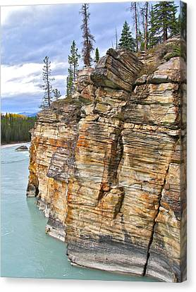 Canvas Print featuring the photograph Athabasca River by Brian Sereda
