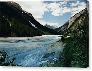Athabasca River Canvas Print by Shirley Sirois