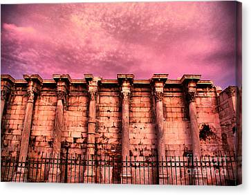 Athens - The Library Of Hadrian Canvas Print by Hristo Hristov