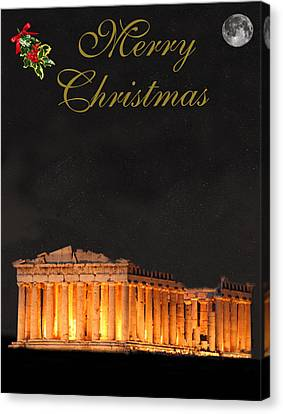Athens Merry Christmas Canvas Print by Eric Kempson