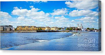 Athlone City And Shannon River Canvas Print by Gabriela Insuratelu