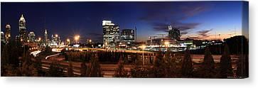 Atlanta Downtown Skyline Canvas Print by Alberto Filho
