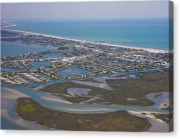 Atlantic Beach Beaufort Aerial Canvas Print