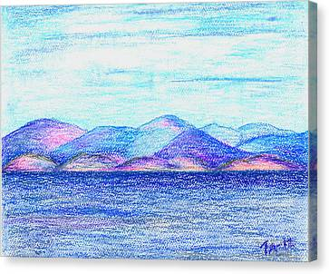 Atlantic Mountains 2 Canvas Print by Taruna Rettinger