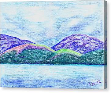 Atlantic Mountains Canvas Print by Taruna Rettinger
